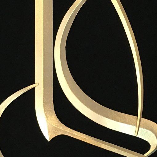 تابلو ورق طلا علی